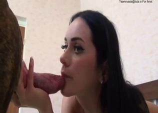 Hardcore oral sex dog bestiality with a brunette